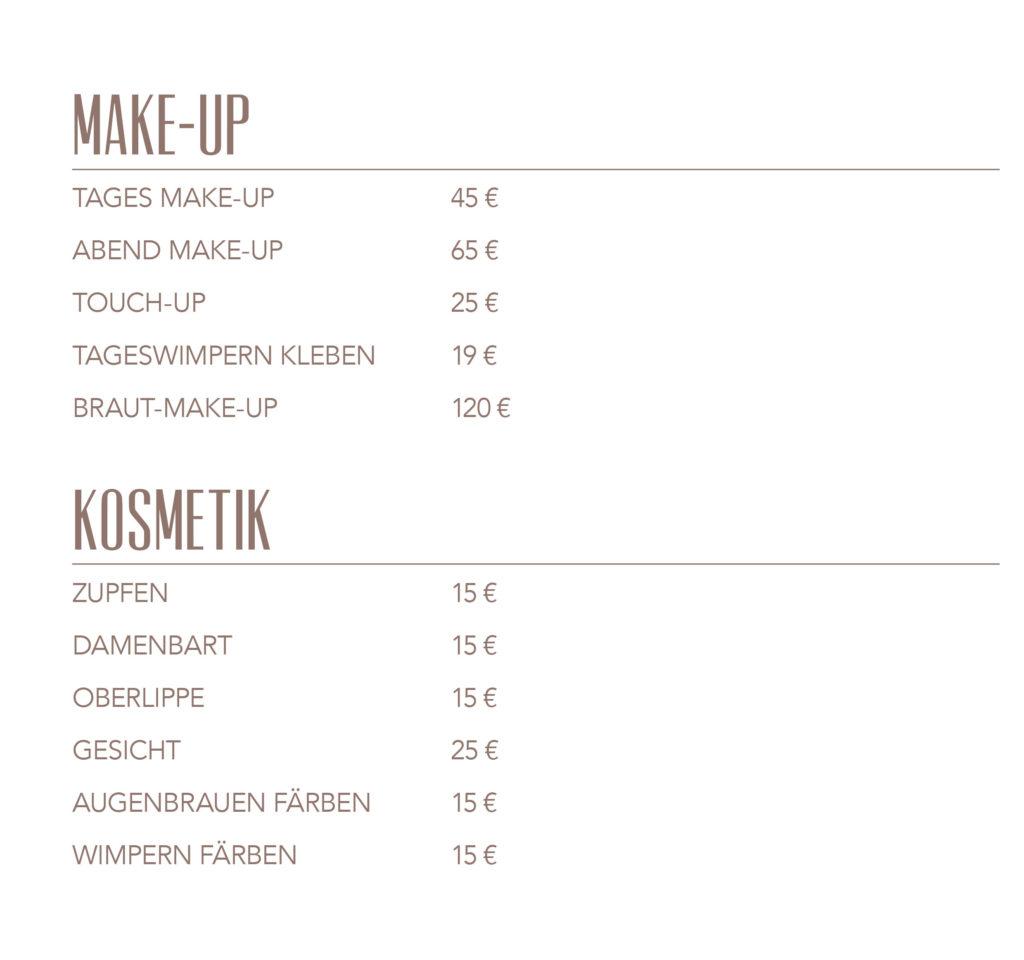 Preise Barbier Gonzales bei DA VINCE HAIR & MAKE-UP 4